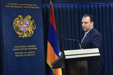 RA Minister of Defense Vigen Sargsyan gave a press conference at the RA Defense Ministry's administrative complex - Photolure News Agency