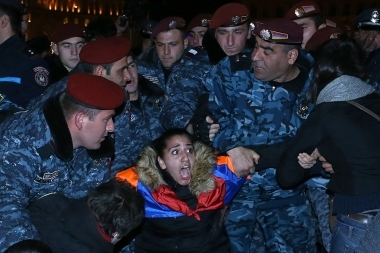 A protest action in memory of Artur Sargsyan who supplied food to the members of 'Sasna Tsrer' group took place in Yerevan - Photolure News Agency