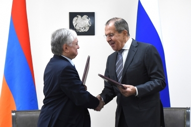 RA Minister of Foreign Affairs Edward Nalbandian received Minister of Foreign Affairs of Russia Sergey Lavrov - Photolure News Agency