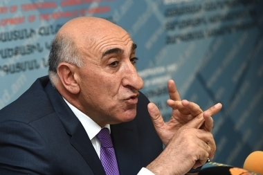 RA Minister of Territorial Administration and Development Davit Lokyan gave a summarizing press conference at the RA MTAD - Photolure News Agency