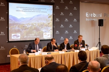 A two-day conference on the concept of preserving the biosphere of the UNESCO and discussing the prospects for its localization in Armenia took place at Erebuni Plaza BC - Photolure News Agency