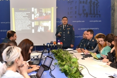 Representatives of the RA Traffic Police gave a press conference at the Police Public Relations and Media Department - Photolure News Agency