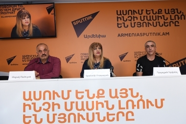 A press conference dedicated to the 7th 'Dolma Festival' took place at Sputnik Armenia press center - Photolure News Agency