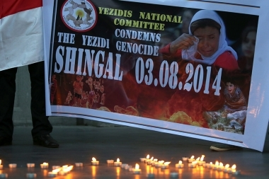 'Yezidi National Union' and 'National Committee of the Yezidi' hold a candlelight ceremony in memory of the victims of Sinjar region - Photolure News Agency
