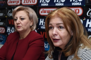 Member of Parliament Ruzanna Muradyan and President of the International Academy of Education Anahit Harutyunyan are guests in Hayeli press club - Photolure News Agency