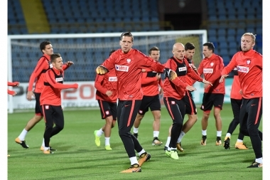 Pre-match training of the Armenia national football team took place at Vazgen Sargsyan Republican Stadium of Yerevan, Armenia - Photolure News Agency