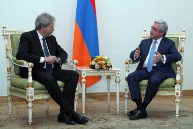RA President Serzh Sargsyan received Italian Minister of Foreign Affairs Paolo Gentiloni - Photolure News Agency