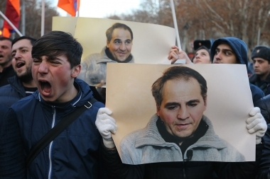 Protest action in support of Artur Sargsyan who supplied food to the members of 'Sasna Tsrer' group took in Yerevan - Photolure News Agency