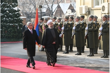 RA President Serzh Sargsyan received President of Iran Hassan Rouhani at the RA Presidential Palace - Photolure News Agency