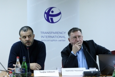 Presentation of the monitoring results implemented by the 'Transparency International Anti-corruption Center' took place at Grand Hotel Yerevan - Photolure News Agency