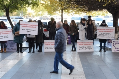 Protest action for the protection of women's rights in Republic Square - Photolure News Agency