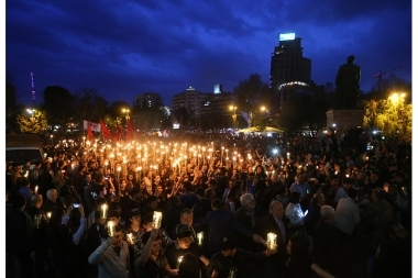 Torchlight procession in commemoration of the Armenian Genocide - Photolure News Agency