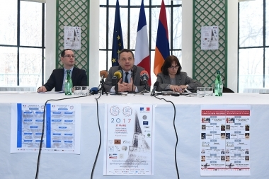 Ambassador of France to Armenia Jean-Francois Charpentier gave a press conference at the Embassy of France to Armenia - Photolure News Agency