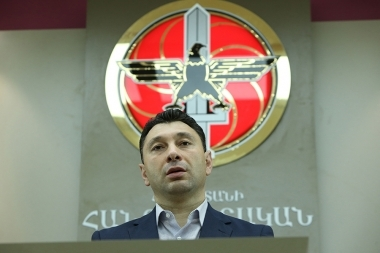 Deputy Speaker of the RA National Assembly Eduard Sharmazanov gave a press conference at the RA Central Electoral Committee - Photolure News Agency