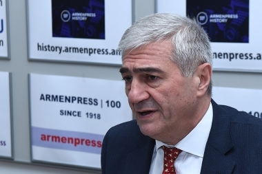Head of 'Emergency Channel' News Center, Major-General Nikolay Grigoryan is guest in 'Armenpress' news agency - Photolure News Agency